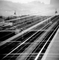 New York City Subway Holga Exposures by newjuventud