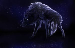 Wolf from water by UniQuest