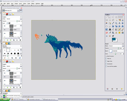 Work in Progress - blue fox thing by Haventide