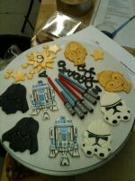 Star Wars Cupcake Toppers by Spudnuts