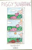 Sunbathing Pig by NellyDesigns by TheCartoonClub