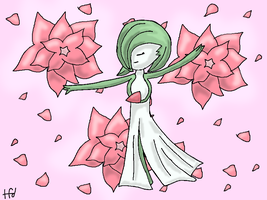 Flowered Gardevoir by TheFoxDude