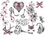 Victorian Girlie Tattoo Flash by expedient-demise