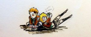 Jean and Armin chibi doodle XD by chibicloud21