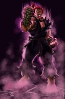 sf akuma by aerlixir