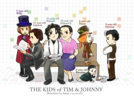 the Kids of Tim and Johnny by amoykid