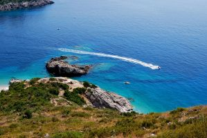 Beach view albania by vini007