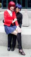 Kushieda Minori and Takasu Ryuuji of Class 2-C by RedVelvetCosplay