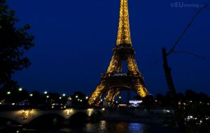 Pont d'Iena to the Eiffel at night by EUtouring