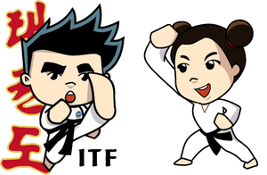 ITF Taekwondo Girl and Boy by PiccleFiccle