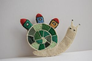 Snail Houses Brooch by 3zolushka