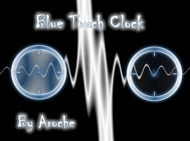 Blue Touch Clock by aroche
