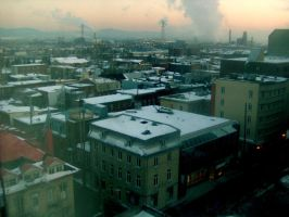 Rooftops of Quebec City by nobodys-lover