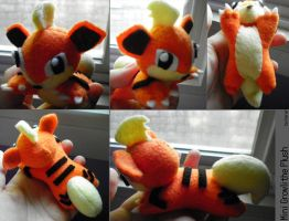 Mini Growlithe Plushie by SmileAndLead