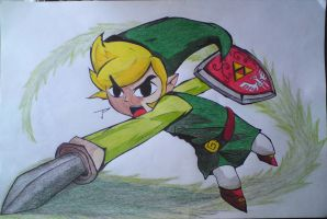 Toon Link (Colored) by JPGraphics7