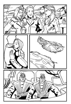 Scifi - Commission page 2 Lineart by TheRafaLee
