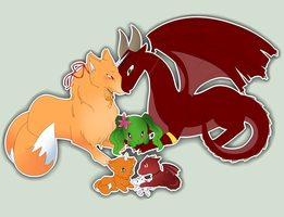 AW:: family beast forms by harmpink456