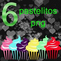 pack de 6 pastelitos png by micheB