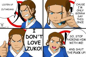Katara's Rant to Zutarians by StarDragon77