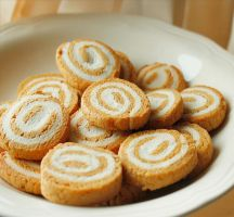 Pumpkin-Cream Cheese Pinwheel Cookies by ScarletWarmth