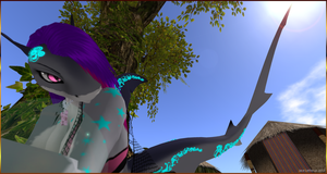 Jayce Camping Under the tree - Second Life by Jace-Lethecus