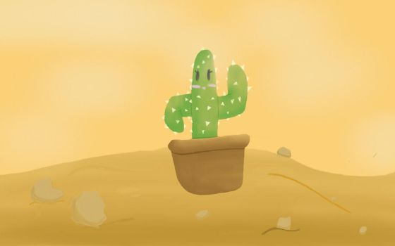 Kawaii Cactus~ by undersketch224