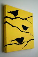 Birds on Yellow by blankearthdesign