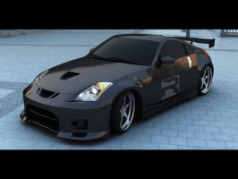 350z: Black by Rookie-