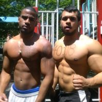 Melvin and friend by resonancegym