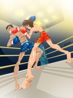 kick boxing round by Andres-Iles