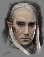 Thranduil Painting by MythosRising