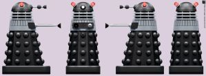 Turner Black Dalek by Librarian-bot