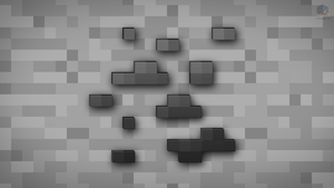 MineCraft Shaded Coal Ore Wallpaper by ChrisL21