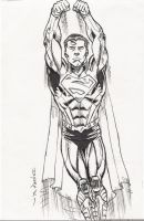 NEW 52 SUPERMAN WARM UP SKETCH by FanBoy67