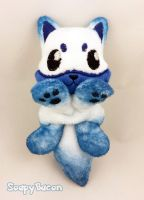 Blue Ice Fox Beanie by TheHarley