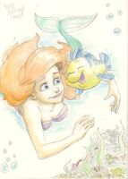 ariel the little mermaid by MatthiusMonkey