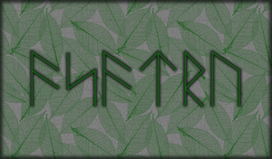 Leafy Asatru Background by Lokabrenna-89