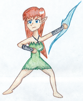 Clair Battle Chibi Color by EsotericDichotomy