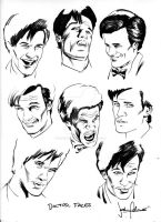 Doctor Who Face Study ink by whatwouldjoshdo