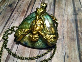 Triple Goddess Necklace by Tuile-jewellery