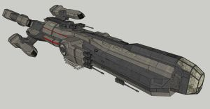 Combat Ship Armed by spyderrock48
