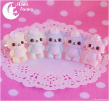 Pastel ice-cream bears Ring by CuteMoonbunny