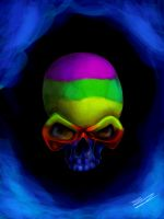::Rainbow Skull:: by shimmyshammy