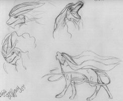 Suicune Expressions by coolcharizard200