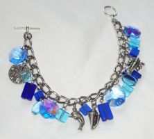 ocean charm bracelet by ACrowsCollection