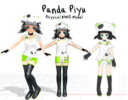 Panda Piyu MMD model by UtauPanda
