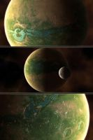 Wasteland planet detail by vissroid