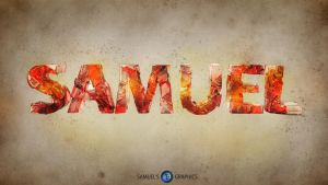 Samuel - Broken Text by Samuels-Graphics