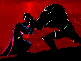 Superman vs Doomsday by DanielGoettig