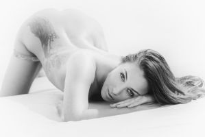 on her knees 2 by MarcBergmann